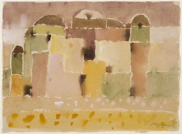 """""""Casablanca"""", 1962, Aquarell auf Bütten, ca. 32 x 43 cm, signiert, datiert, P. a. A."""