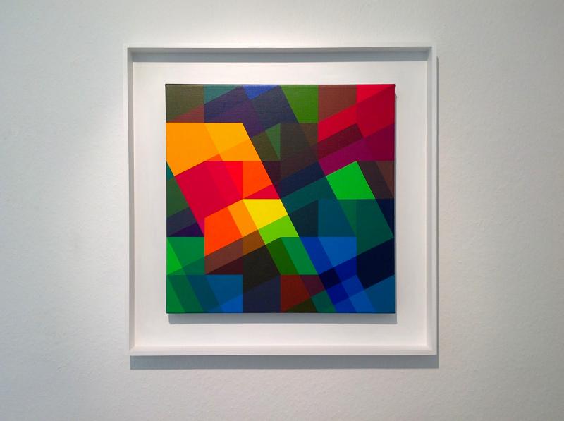 """f+g.l+k"", 2011, Acryl auf Leinwand, 50 x 50 cm, gerahmt"