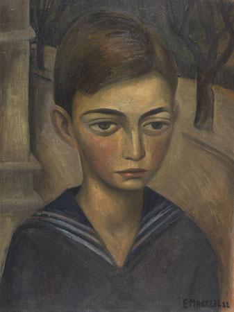 "Emil Maetzel (1877-1965), ""Knabe im Matrosenanzug"", 1922, Öl auf Malkarton, 50 x 36 cm, signiert, datiert"