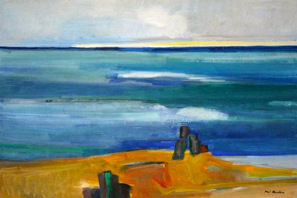 """Kai Quedens, """"stal weeder (Stilles Wasser)"""", 2013, Eitempera auf Leinwand, 80 x 120 cm"""